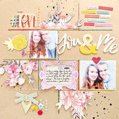 You & Me by @paigeevans #scrapbooking #pinkpaislee #bigpictureclasses