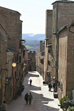 Via Boccaccio, Certaldo, Florence, Tuscany, Italy
