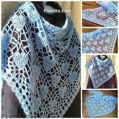 This pattern contains instructions for two versions of heart shawl crochet hook- 5 yarn 50g/275 m (acrylic- 70%, mohair-30%) (2,3 balls) pattern 1:   or pattern 2:
