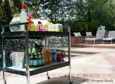 pool side beverage cart