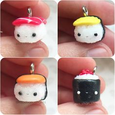 #kawaii #charms #polymer #clay #sushi