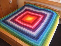 Room No# 13, crochet blanket, Häkeldecke, afghan