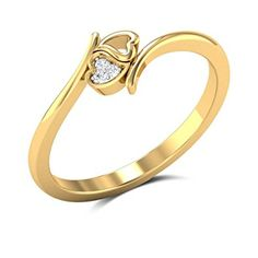 Buy Interlocking Hearts Diamond Engagement Ring in Gms Gold Online Gold Ring Designs, Gold Bangles Design, Gold Earrings Designs, Gold Jewellery Design, Gold Finger Rings, Gold Heart Ring, Gold Rings Jewelry, Womens Jewelry Rings, Heart Diamond Engagement Ring
