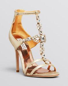 Badgley Mischka Open Toe Evening Sandals - Giovana II High Heel | Bloomingdales's