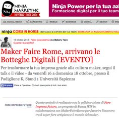 Fare Impresa Futuro su ninjamarketing.it del 15/10/2015