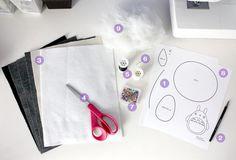 DIY Totoro Plush Tutorial : cheek and stitch