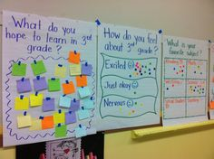 A classroom question/survey for each day I have my whole class. Intro into discussion of rules/expectations.