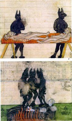 Medieval painting of Black Devils