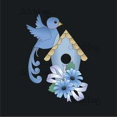 Diddybag Set 9557 - Semi Exclusive Beautiful Blue Birds
