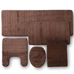 Buy TOWNHOUSE RUG Memory Foam Bathroom Set Combo, 5 Piece, Brown - Reviewhomkit.com ✓ FREE DELIVERY possible on eligible purchases