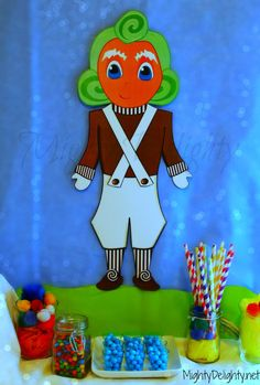Oompa Loompa Party Decoration, Stands 23 Inches tall!  Perfect addition to any Willy Wonka Party