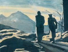 Luc Tuymans influenced by   der wanderer Caspar David Friedrich