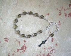 Hekate (Hecate) Prayer Bead Bracelet: Greek Goddess of Magic, Witchcraft, Darkness, Crossroads, Thresholds, Women by HearthfireHandworks on Etsy