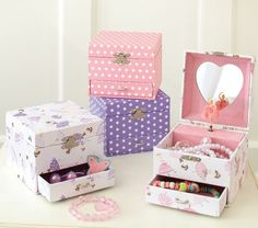 pink ballerina jewelry box