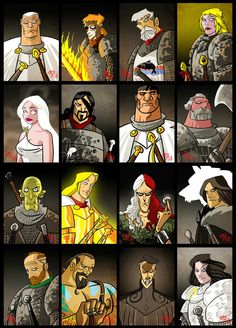 Game of Thrones - cartoon artistry of the characters