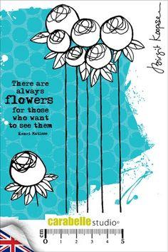 Koopsen Carabelle Studio A6 Unmounted Stamp Set Texture Flowers by B