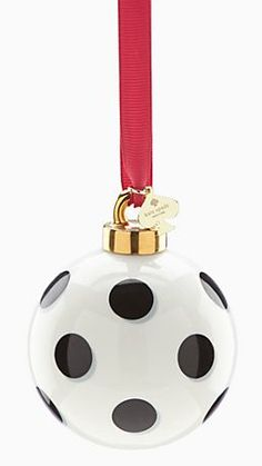 pretty Kate Spade ball ornament - 25% off with code: BEMERRY http://rstyle.me/n/tbwtepdpe