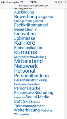 Tag-Cloud im kumulus-Blog.