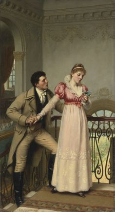 YES OR NO? by EDMUND BLAIR LEIGHTON (BRITISH 1852-1922)