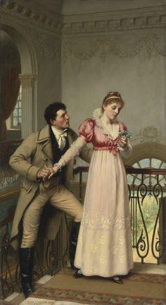 YES OR NO? by EDMUND BLAIR LEIGHTON (BRITISH 1852-1922)