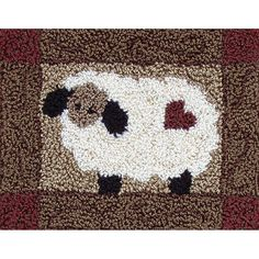 Embroidery Supplies, Cross Stitch Embroidery, Embroidery Patterns, Sheep Cross Stitch, Wool Embroidery, Wool Applique, Crochet Patterns, Punch Needle Kits, Punch Needle Patterns