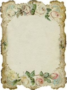 FREE Vintage Rose Frame pinned with Bazaart