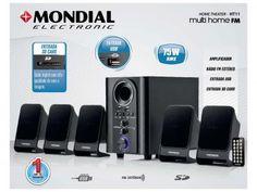 Home Theater Mondial HT-11 Multi Home - 5.1 Canais 75W RMS USB com as melhores condições você encontra no Magazine Everlany. Confira!