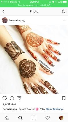 Check out this post on mehandi created by Shabnam shaba ( and top similar posts on mehandi, trendy products and pictures by celebrities and other users on Roposo. Henna Tattoo Designs Arm, Henna Art Designs, Mehndi Designs 2018, Bridal Henna Designs, Unique Mehndi Designs, Mehndi Designs For Fingers, Beautiful Mehndi Design, Henna Tattoos, Temporary Tattoos