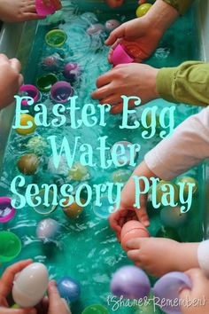 Preschool Water Table Ideas - water play with plastic Easter eggs - Easter Activities, Spring Activities, Sensory Activities, Infant Activities, Preschool Activities, Indoor Activities, Family Activities, Easter Games, Children Activities