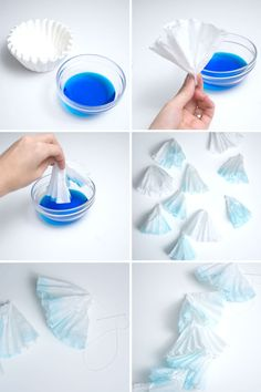 how to make cheap coffee filter backdrops
