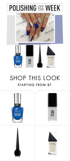 """Polishing Off the Week"" by polyvore-editorial ❤ liked on Polyvore featuring beauty, Sally Hansen, JINsoon, Christian Louboutin, GUiSHEM, nailpolish, polishingofftheweek and newnownails"