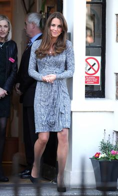 This MaxMara wrap dress sold out in just a few hours after Kate wore it to Hope House!!