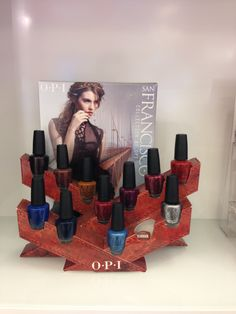 OPI Counter Display - An engineering feat, made completely of cardboard.