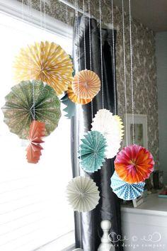 pleated projects week: pleated medallions | Jones Design Company | create . decorate . celebrate