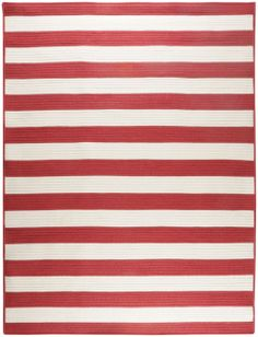 Solid Striped Runner Red Color Surya Westport Collection