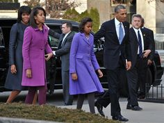 Michelle Obama goes sparkling, sophisticated for inauguration - The Look   They all look amazing!