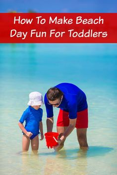 How To Make Beach Day Fun For Toddlers. A beach trip is a pretty big deal with a toddler, so making sure you're prepared in general but also to have fun is very important! These tips will help you make beach day fun for the whole family! - abccreativelearning.com