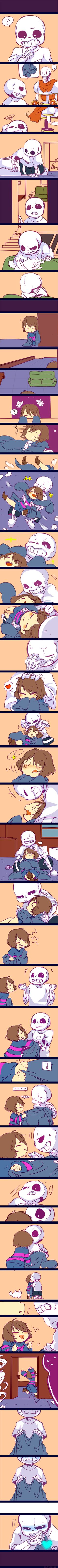Undertale by kuzukago.deviantart.com on @DeviantArt<<< Frisk, you little flirt!