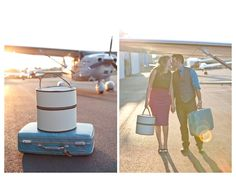 the most stunning retro airfield engagement shoot...