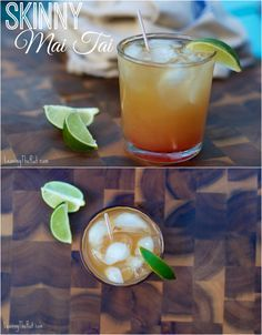 Easy Skinny Mai Tai. Perfect blend on a classic cocktail recipe! www.leavingtherut.com