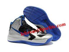 new style de3b3 c1237 Nike Zoom Hyperfuse 2012 Jeremy Lin Shoes Silver Black Blue