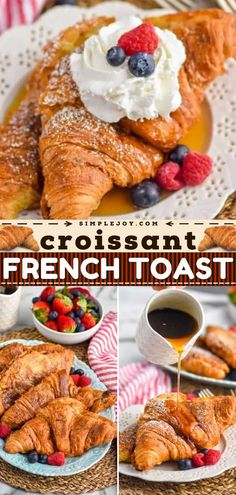 Your new favorite sweet breakfast idea! Once you try this french toast recipe made extra special with croissants, your family will request it again and again. Save this pin for the ultimate Christmas brunch!