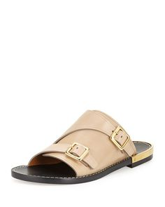 8e9d9797161185 CHLOÉ Buckled Leather Flat Side Sandal.  chloé  shoes  sandals Women s  Loafer Flats