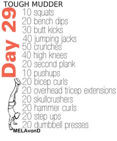 CrossFit WoD – Workout of the day - Beautiful and fit Tough Mudder Workout, Tough Mudder Training, Spartan Race Training, Spartan Workout, Wod Workout, Workout Days, Marathon Training, Mud Sweat And Tears, Sweat It Out