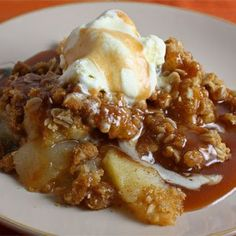 Caramel Apple Crisp This would be great with some good old fashion vanilla ice cream!