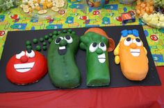 Doesn't it kinda screw with kids heads if you give them a cake that looks like veggies, even of they are cartoony veggie people, and they eat it and find its delicious and sweet? What happens when they sit down for dinner and they get veggies that taste nothing like the cake?!