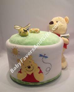 Winnie The Pooh Large Honey Jar Diaper Cake http://babyfavorsandgifts.com/winnie-the-pooh-large-honey-jar-diaper-cake-p-161.html