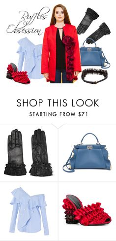 """""""Ruffles Obsession"""" by kites-and-bites ❤ liked on Polyvore featuring AGNELLE, Fendi, FAIR+true, Marco de Vincenzo, STELLA McCARTNEY, red, blazer, ruffles and kitesandbites"""