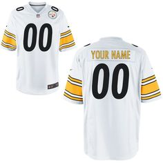 d8f13dff9 Nike Men s Pittsburgh Steelers Customized Game White Jersey