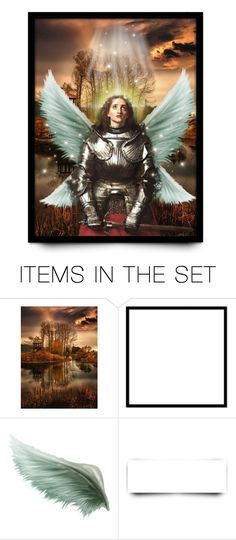 """St. Michael The Archangel"" by mari-777 ❤ liked on Polyvore featuring art"